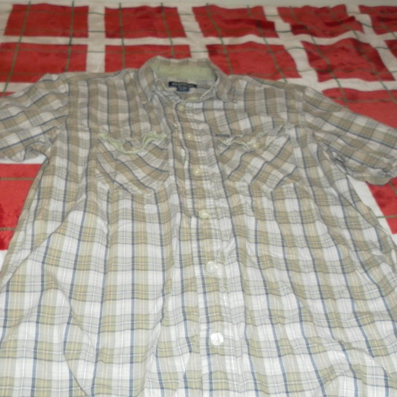 Aeropostale Other - Aeropostale Mens Green Plaid Button Down Shirt